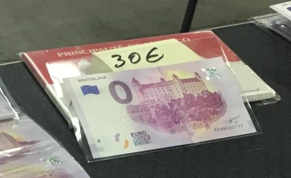Bratislavsky hrad, bankovka 0 EUR