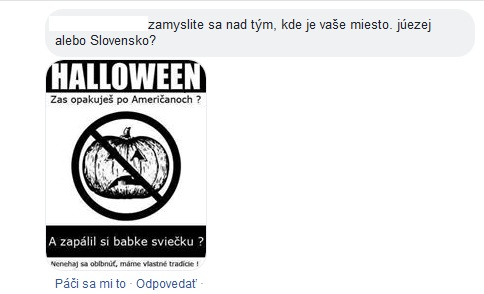 Halloween prispevok meme