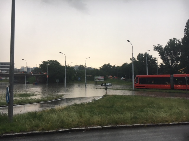 Záplavy Bratislava Ružinov jún 2018
