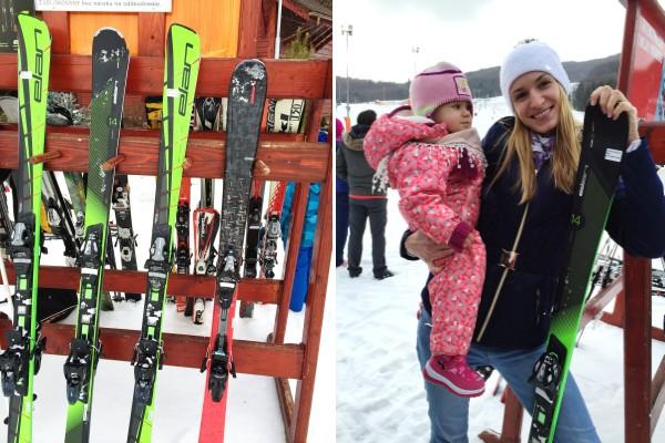 Testovanie lyží Elan, lyžiarsky svah