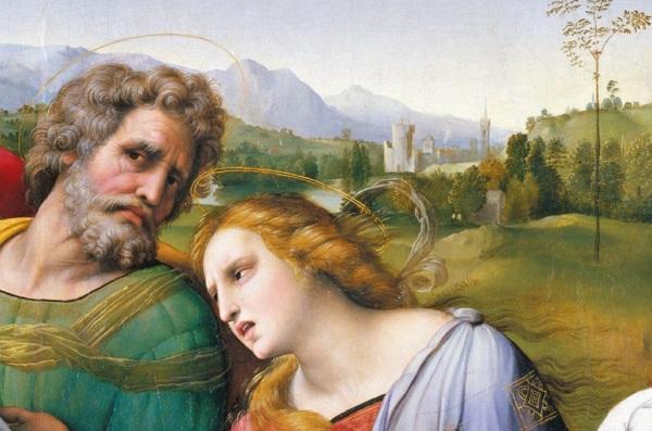 Raffael Santi, maľby a život