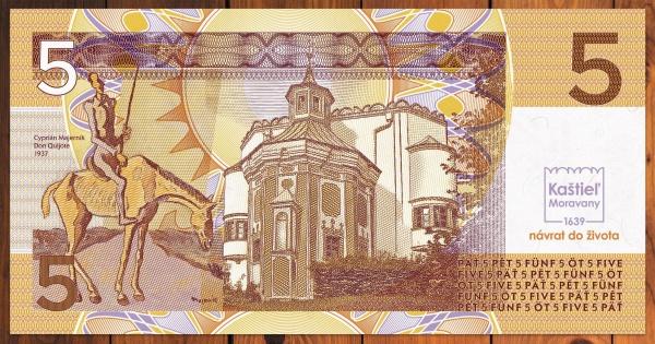 Kaštieľ Moravany bankovka umelecká