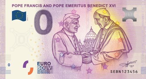 Papez a emiretný papez sretnutie 0 eur bankovka