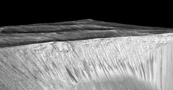 Voda na Marse, NASA/JPL/University of Arizona