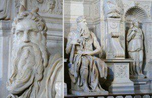 Michelangelo a jeho dielo Mojžiš s rohmi