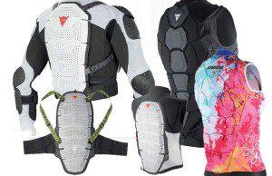 Chrániče chrbáta lyžiarov