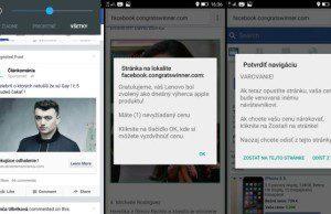 Falošný magazín a facebook reklama