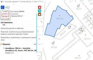 Katastrálna mapa: kto je majiteľom pozemku?