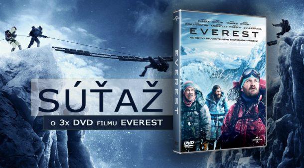 Súťaž o 3x filmovú novinku Everest na DVD