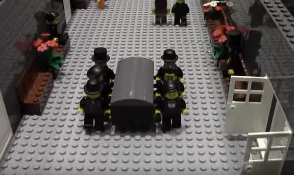 LEGO funeral