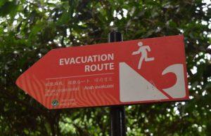 evakuačné body pred tsunami