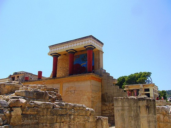 Kréta, palác Knossos