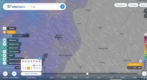 VentuSky predpoveď počasia