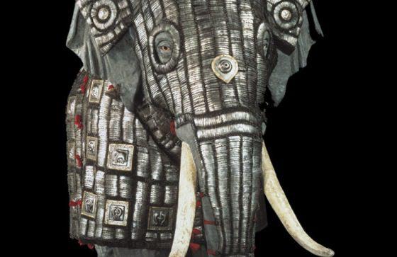 Vojnový slon v múzeu
