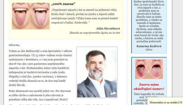 Ján Malinovský, vymyslený gastroeneterológ