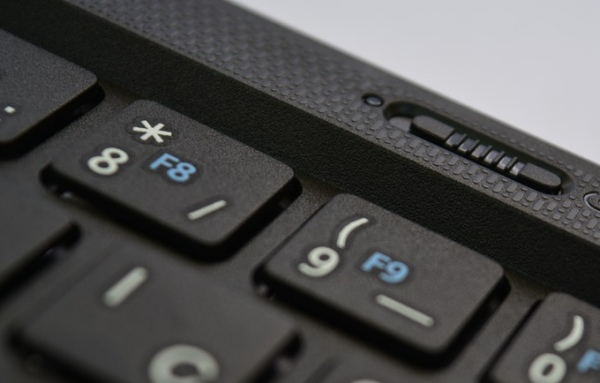 Notebook hviezdička na klávesnici
