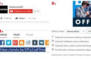 Youtube vkladanie videa