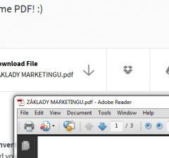 Doc konvertovanie do PDF, návod