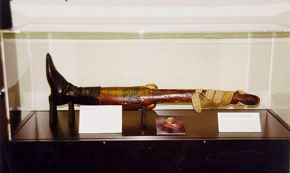 Santa Anna generál a jeho noha