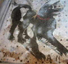 Mozaika pozor pes, Pompeje