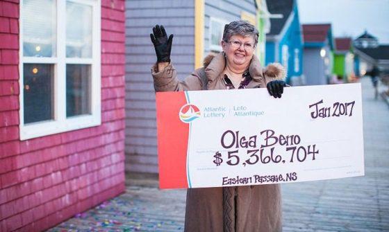 Olga Beno vyhrala v lotérii