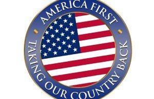 America First logo parodia