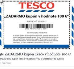 Tesco poukážka 100 EUR