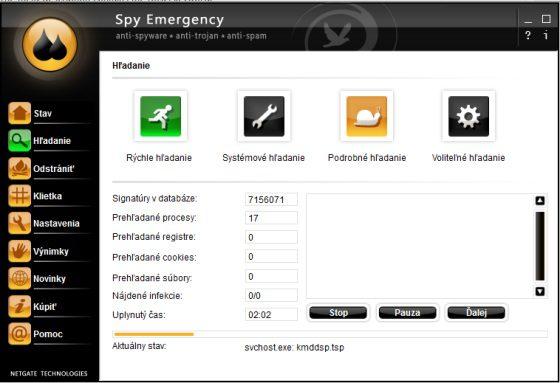 Spy Emergency boj proti trojanom a vírusom
