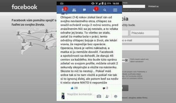 Podvodníci a Facebook prosia o lajk