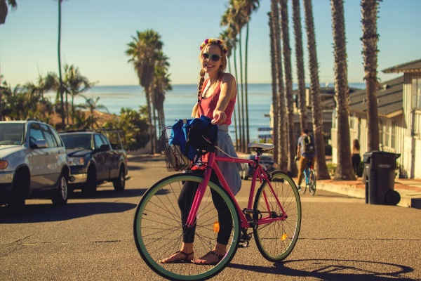 Bicykel a cesta v meste