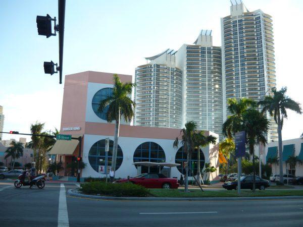 Miami Beach ulica a budovy