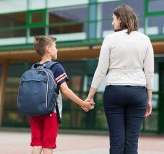 Základná škola a školská taška