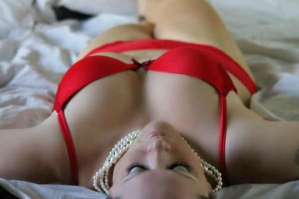 Elegantná podprsenka, červená