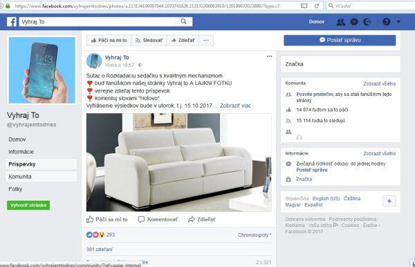 Vyhraj to falosná súťaž na Facebooku