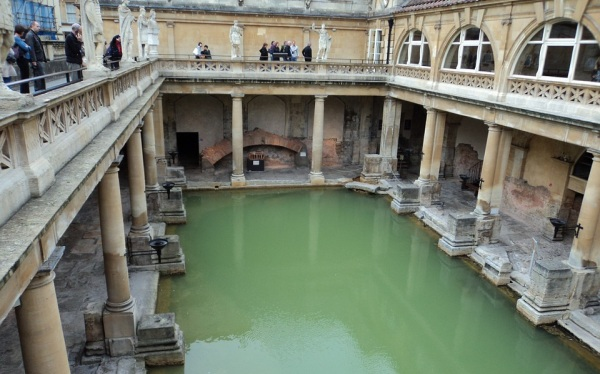 Anglicko, Bath, rímske kúpele