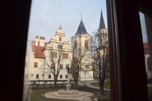 Levoča, výhľad z okna z hotela U Leva
