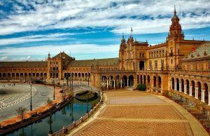 Plaza Espana, Seville, Španielsko