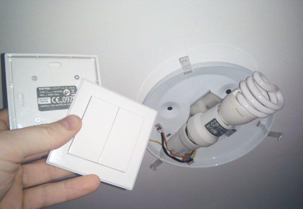 Svetlo diaľkové ovládanie bez sekania