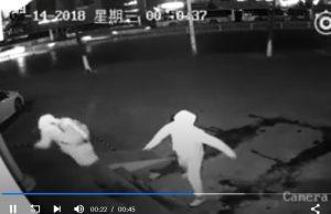 Bezpečnostná kamera, babráci zlodeji