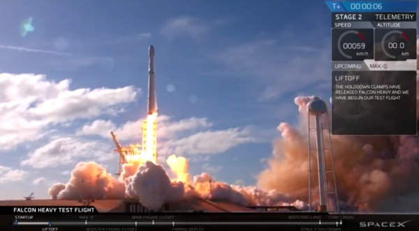 Falcon Heavy, spaceX mission 2018 štart rakety