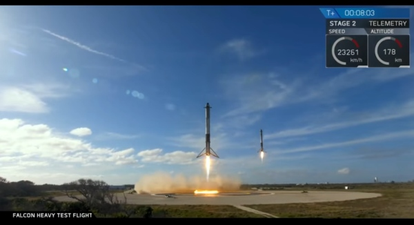 Falcon Heavy, spaceX mission 2018 nosné rakety