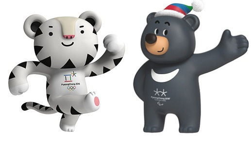 Maskoti Olympiáda Korea 2018