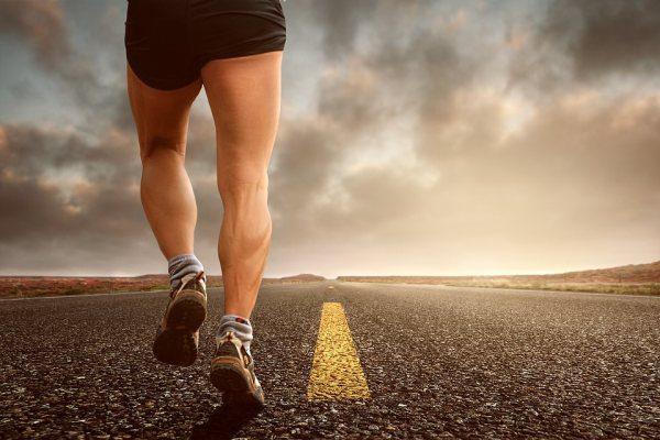 Jogging svaly muž