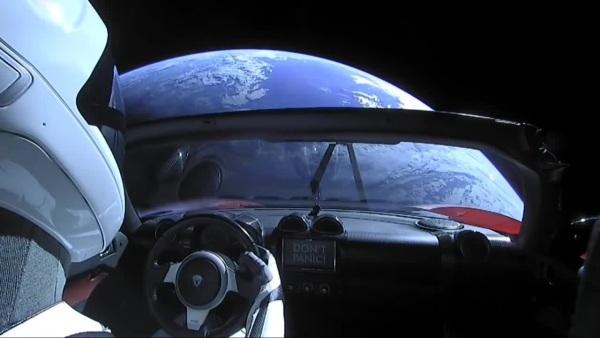 Starman SpaceX Dont panic