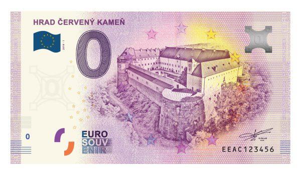 Euro suvenír 0 EUR bankovka Hrad Červený Kameň