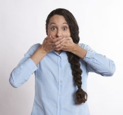 žena prekvapenie a GDPR