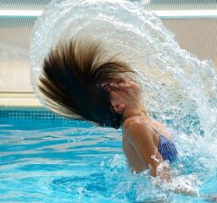 bazén a voda v ňom