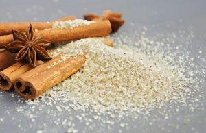 Vanilínový cukor na škorici