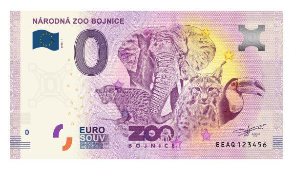 Bojnice 0 eur bankovka ZOO