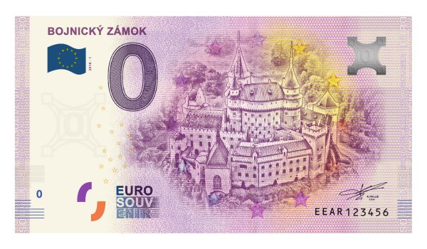 Bojnice 0 eur bankovka zámok